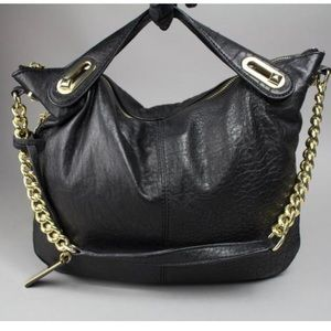 """NWT Vince Camuto """"Clair"""" Leather Satchel"""
